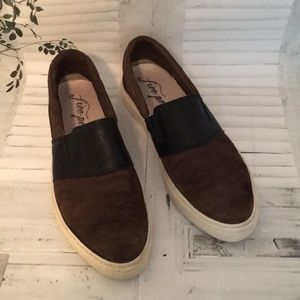 Free People slip-on leather sneakers shoes